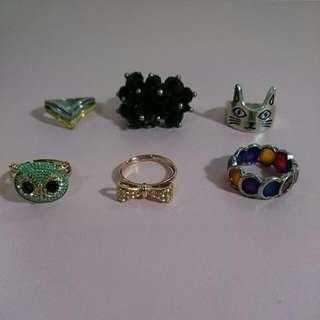 🚚 (合賣)造型戒指6個