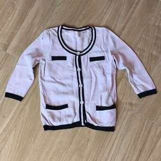 日本專櫃 MK MICHEL KLEIN 小香風淺紫小外套