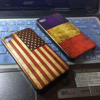 iPhone 4 4s 手機殼 保護殼 硬殼 美國 法國 國旗 復古懷舊