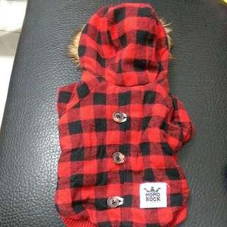 2-3公斤狗狗紅色含帽衣服