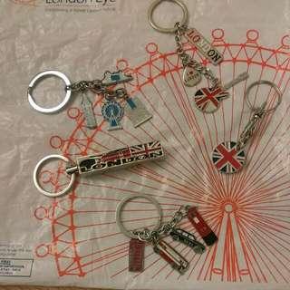 全新 英國 鑰匙圈