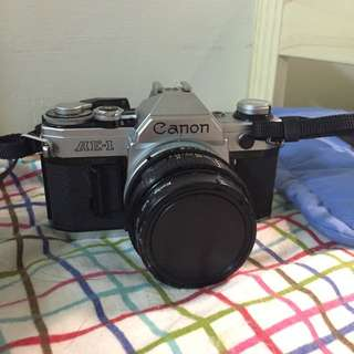 二手 Canon AE-1 +50mm 1:1.8S.C.鏡頭