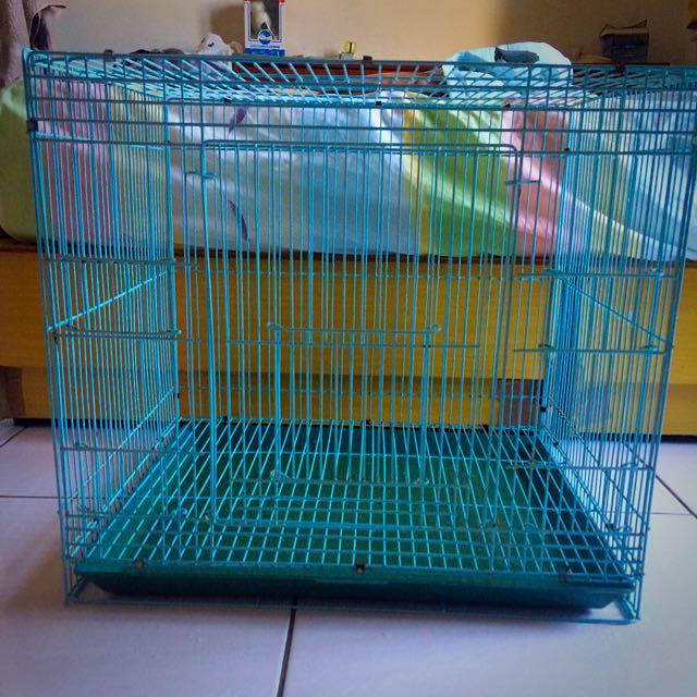 【熊的二手屋】寵物 水藍色籠子 、托盤
