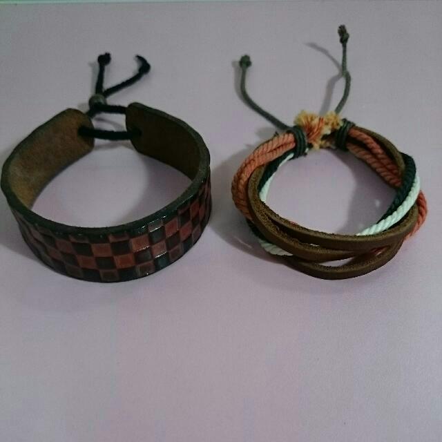 (合賣)皮手環