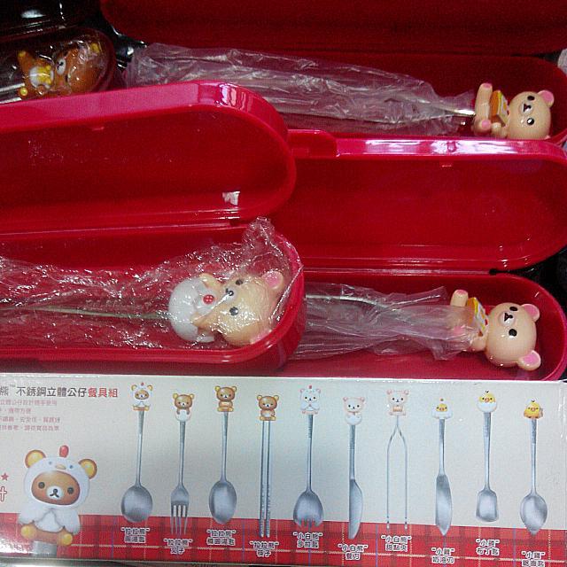 超可愛懶懶熊餐具組