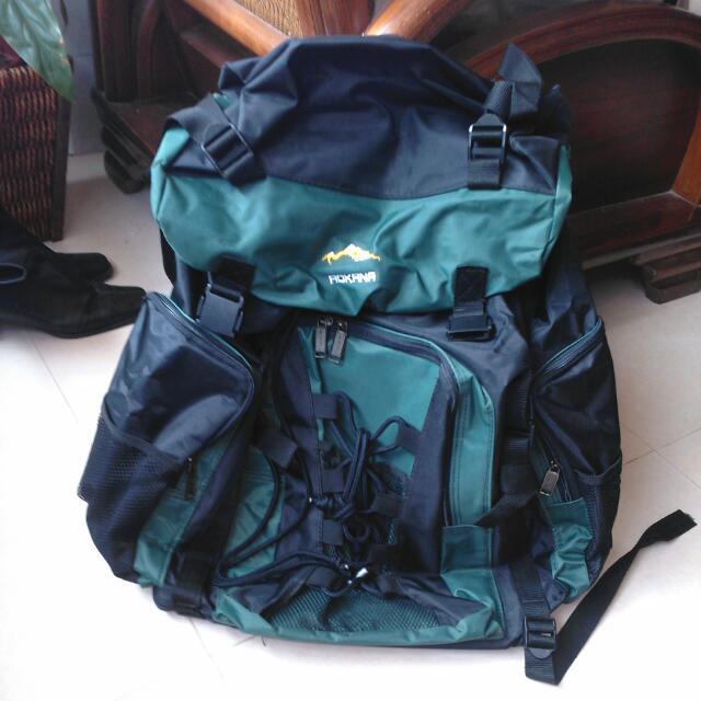 ⇩降價⇩ 二手 【AOKANA奧卡納】超大容量專業後背包 防潑水登山包