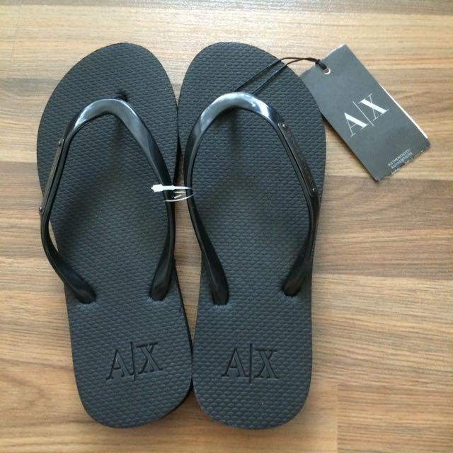 407f8c8a767 Armani Exchange Black Flip Flops