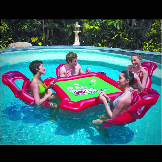 inflatable mahjong table float swimming pool toys games on carousell