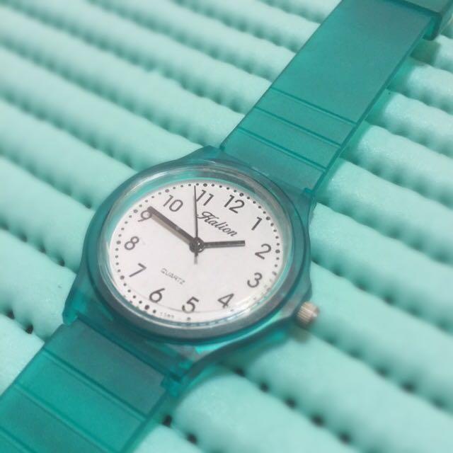 Tiffany綠透明錶