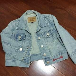短版牛仔淺藍外套