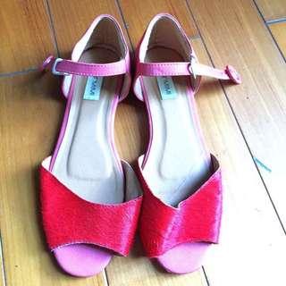 StarMIMI 鮮紅色涼鞋