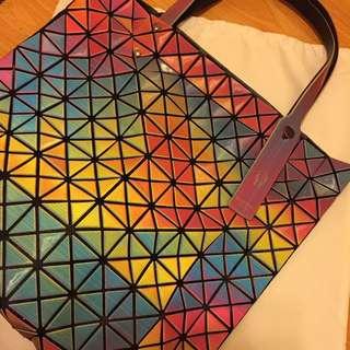 彩色三宅同款十格 手袋