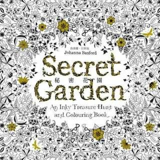現貨不用等 秘密花園 彩繪本 著色本 送小本 台版中字