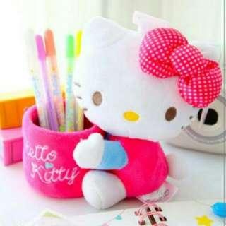 正版 Hello Kitty KT 置物桶 筆筒 收納盒 手機座 雜物整理
