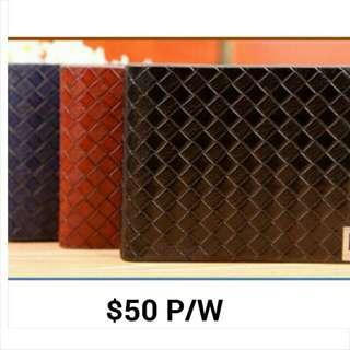 MEN'S WALLET #ACC02- $ 50 ( NEW ) PRE ORDER 14/8/15-21/8/15