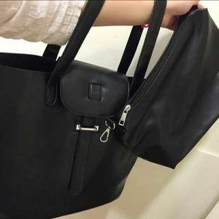 黑色大容量3用包