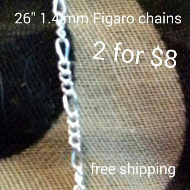2 Sterling silver chains