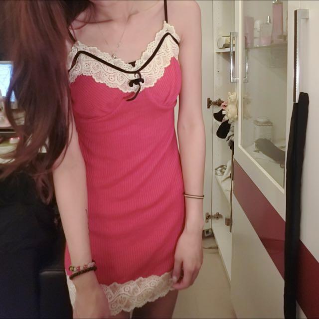 聖誕配色性感小洋裝
