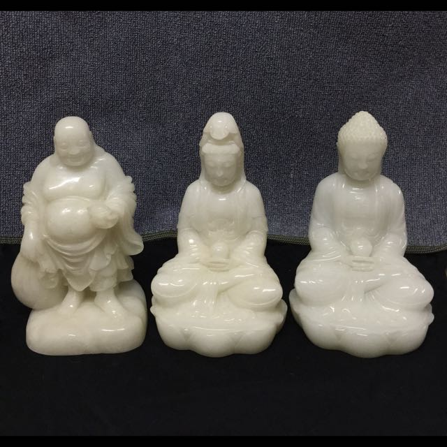 緬甸漢白玉   (觀音、釋迦佛、布袋和尚)