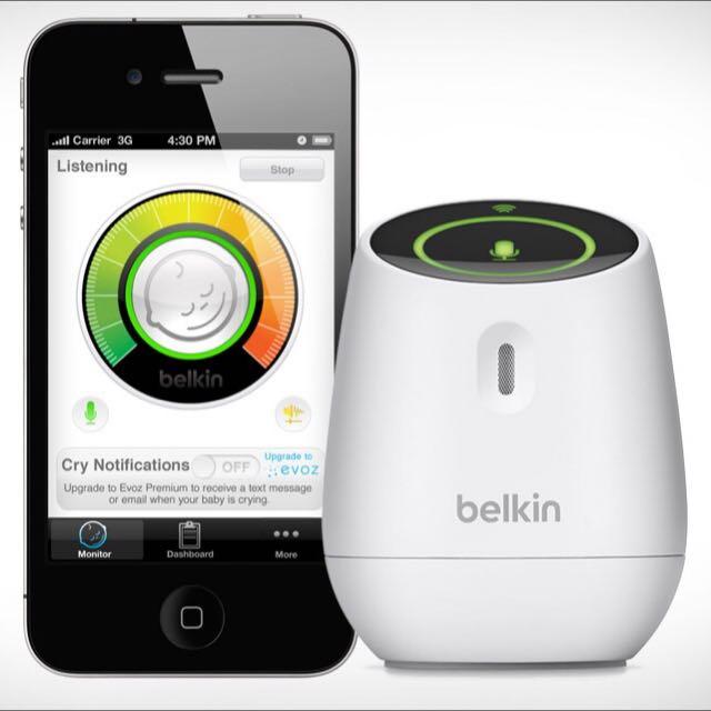belkin 寶貝音控監聽警報器
