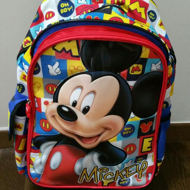Brand New Trolley School Bag Mickey Mouse