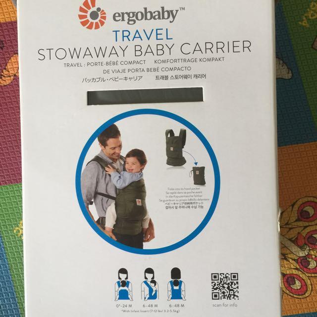 473eaa9d579 Ergo Baby Travel Carrier Stowaway Brand New