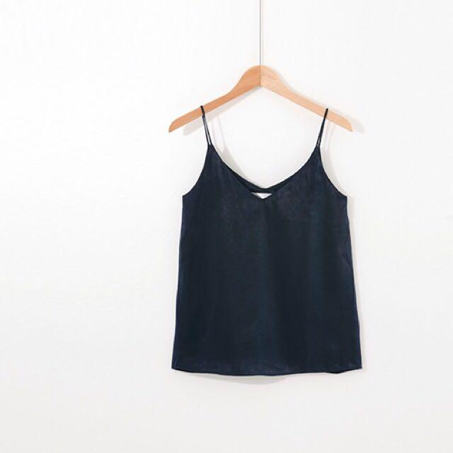 (待匯款)(吊牌未拆)STARMIMI微光澤緞紋細肩帶背心