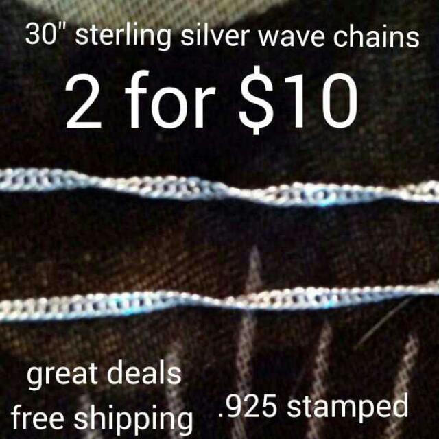 Sterling silver chains