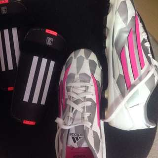 Women's Adidas Soccer Cleats And Adidas Shin Pads