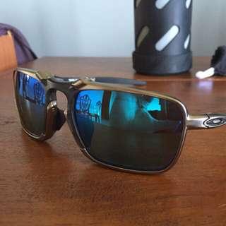Oakley Badman With Sapphire Iridium Polarized Lens (Asian fit)