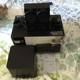 Sony SRS-D4 2.1 Speakers