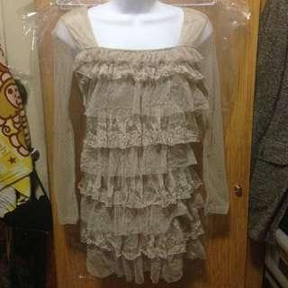 全新蕾絲蛋糕裙洋裝