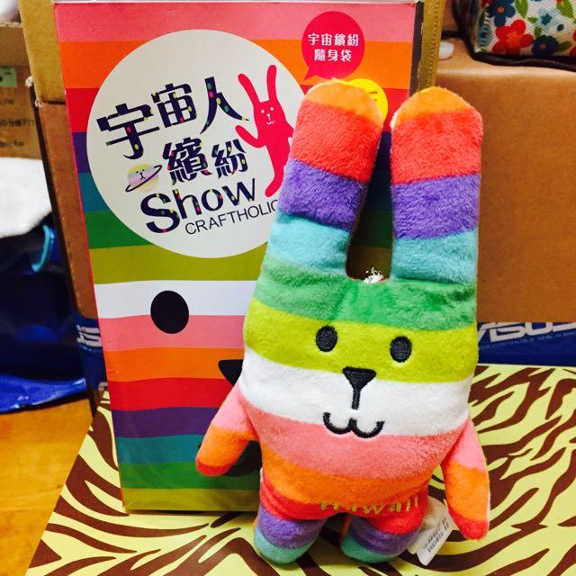 宇宙人繽紛彩虹兔🐰夏威夷彩虹兔(證件套)
