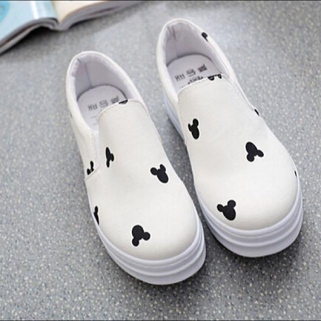 (現貨1雙)可愛米奇厚底懶人鞋