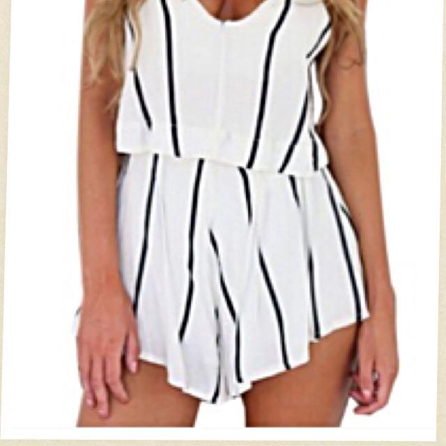 (降價)美國買 條紋連身褲裙