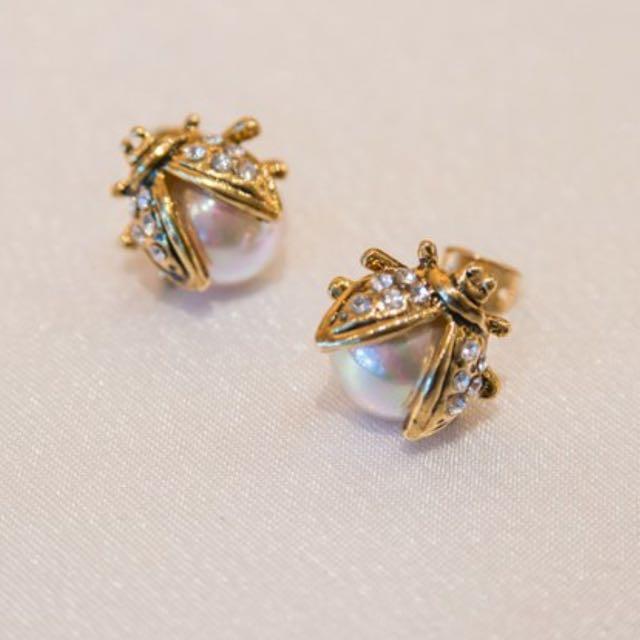 設計師珠寶設計款 瓢蟲耳環