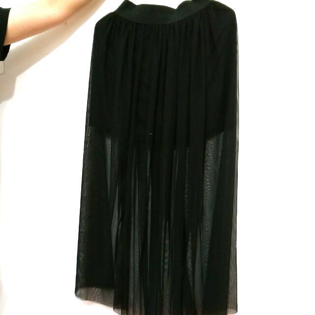 二手 長裙 黑色 紗