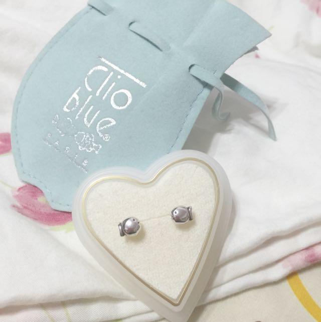 💯法國Clio Blue泡泡魚 純銀單顆貼耳耳環