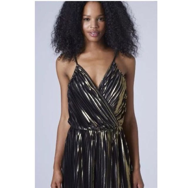 59c1983f784 BNWT Topshop Black and Gold Playsuit