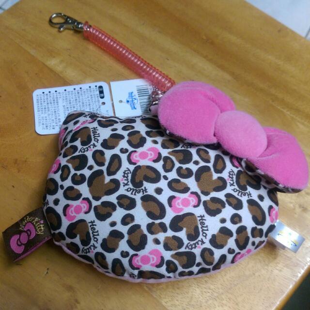 豹紋Hello Kitty 悠遊卡夾 可掛式