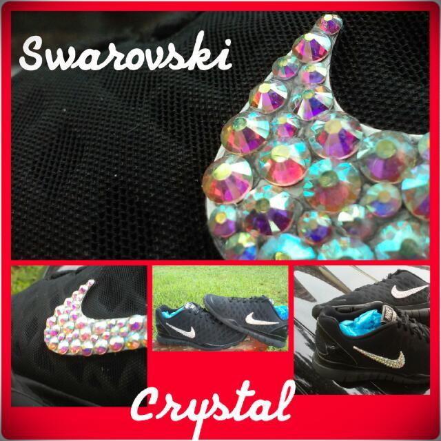 d3b496574237 NIKE Shoes SWAROVSKI Crystal Size.7.5 Women s Free Run Unique ...