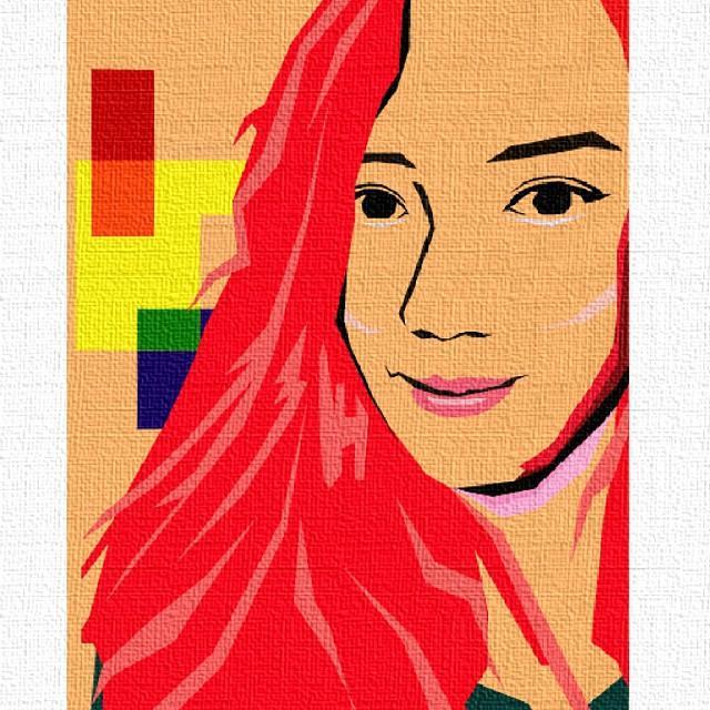 Portrait Illustration - Lovable Red ♡