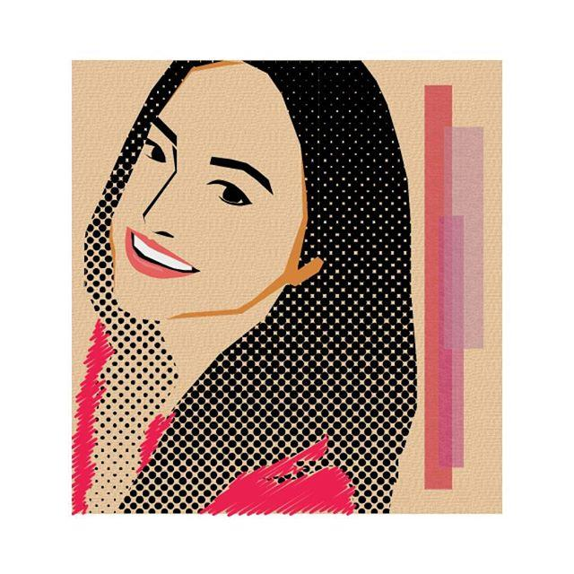Portrait Illustration - Polka Hair ♡