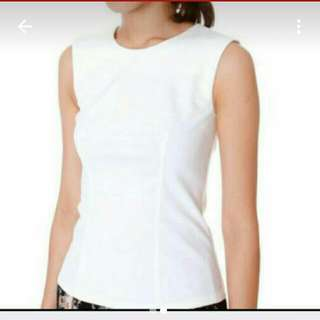 Mds Slately Bodycon Top In White