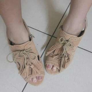 魚口 楔形 涼鞋