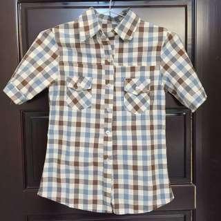 咖藍格子襯衫