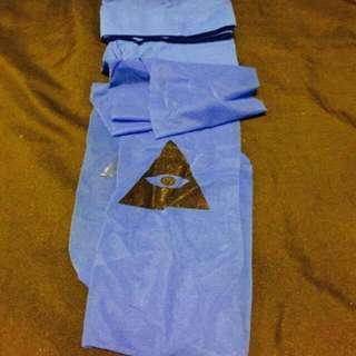 (全新)藍色褲襪