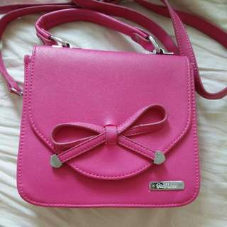 GioFiore Hot Pink Bow Sling Bag