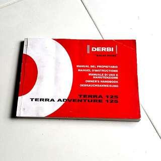 Terra Derbi Adventure 125cc Manual Instruction