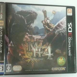 Pre-owned Monster Hunter 4 Japanese Version game for Nintendo 2DS, 3DS - First Print